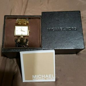 Authentic Michael Kors Snake Skin Leather Watch